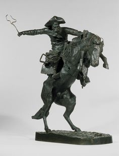 """""""The Broncho Buster,"""" 1895; this cast, 1918. Frederic Remington (American, 1861–1909); Bronze"""