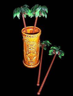 Palm Tree Swizzle Sticks. #palmtressswizzlesticks #tiki