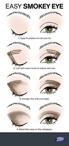 Makeup Eyeliner -                                                              Easy Smoky Eye Tutorial #boots #beautytips #howto
