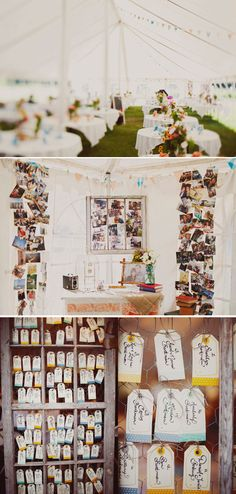 Love this little nook with photos! Great space for a card box!