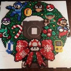 Nintendo Christmas wreath by shiibby