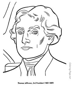 Thomas Jefferson - US President coloring pages