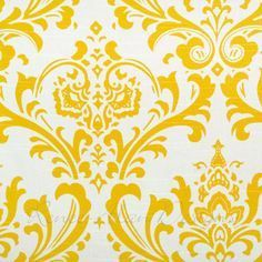 Yellow and white damask table runner - Choose length - Wedding table runner - Kitchen table - Dining table - Damask decor - Table decor