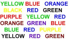 Read the color not the word