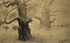 Leon Wyczolkowski (1852-1936) - Rogalin Oaks, 1915