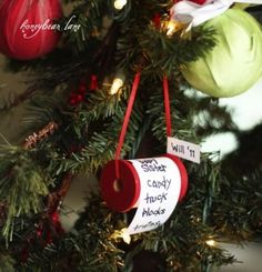 DIY Christmas List Ornament...these are the BEST Homemade Ornament Ideas for Christmas!