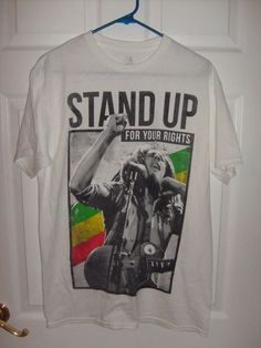 ba2bfa57 BOB MARLEY STAND UP FOR YOUR RIGHTS MEN'S MEDIUM WHITE T SHIRT NEW SPENCER'S  #SPENCERS #GraphicTee