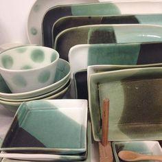 Aleida Pullar, NSW   #Repost @aleidapullar ・・・ Copper variations on my shelves #australianhandmade #porcelain #copperglazes #studioceramics #australianceramics