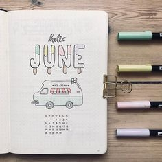 Friday Finds: Summer Bullet Journal Theme - The Petite PlannerYou can find Ice cream near me and more on our website.Friday Finds: Summer Bullet Journal Theme - The Petite Planner Planner Bullet Journal, Bullet Journal Notebook, Bullet Journal Spread, Bullet Journal Inspo, Bullet Journal Layout, Bullet Journal Cover Ideas, Bullet Journal Workout, Bullet Journal Ideas Templates, Bullet Journal Monthly Calendar