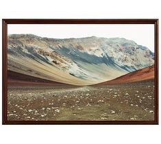 "Haleakala Framed Print by Lupen Grainne, 42 x 28"", Ridged Distressed Frame, Espresso, No Mat"
