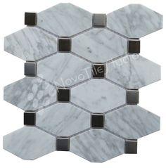 Fantastic Mix #Marble #Carrara #StainlessSteel #Mosaics #MosaicTiles #tiles #backsplash #kitchen #Bathroom #HomeDecor #HomeImprovement #HomeDesign #HomeRemodeling #remodeling #kitchendesign #kitchenremodel #kitchenrenovation #bathroomdesign #bathroomremodel #bathroomrenovation #bathdesign #InteriorDesign #NovoTileStudio http://ift.tt/21kWBhv Model: MILAZZO-ST004 by novotilestudio