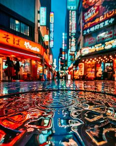 Amazing lighting and tones in by Daren (at Tokyo. Bokeh Photography, Urban Photography, Night Photography, Street Photography, Travel Photography, Tokyo Night, Japan Photo, Photo Wall Collage, Anime Scenery