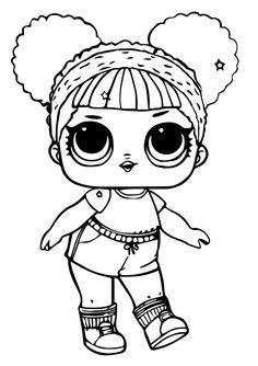 Printable Lol Doll Coloring Pages Hoops MVP Glitter To Print Doodle