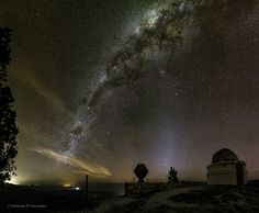 Milky Way over Bosque Alegre Station in Argentina . The light at the horizon, to the right of center, is zodiacal light: sunlight scattered by dust in our Solar System that may be surprisingly prominent just after sunset or just before sunrise. NASA Astronomy Photo of the Day: September 22, 2015