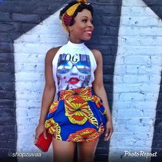 """by @shopzuvaa """"What a beautiful day  #MIDGETGiraffe summer pieces coming soon! #africainspired #africanprints #africanfashion #africanfabrics #prints #fashion #springsummer"""