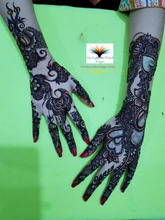 मेहंदी डिजाइन, مہندی ڈیزائن, Latest Arabic Black Cone Mehndi Design 2019 Full Hand Back Side Design Stylish Mehndi Designs, Latest Mehndi Designs, Mehndi Designs For Hands, Mehandi Designs, Hand Mehndi, Channel, Tattoos, Black, Tatuajes
