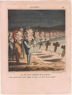 Honoré Daumier   Les 56 ou les trappistes de la politique   Drawings Online   The Morgan Library & Museum