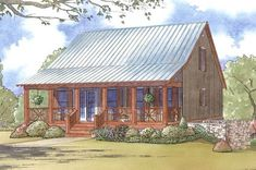House Plan 8318-00020 - Cabin Plan: 1,661 Square Feet, 3 Bedrooms, 3.5 Bathrooms