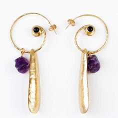 Amethyst And Onyx Earrings by SOHO Styles (featured on Fab.com!)