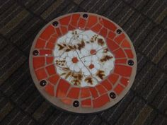 Mosaic Stepping Stone for the Garden  Round  by MosaicsbyMadonna, $35.00