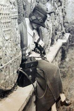 Ruth M. Anderson en uno de sus viajes de trabajo a Galicia. // J.Regal