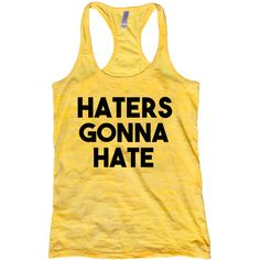 Haters Gonna Hate (€14) ❤ liked on Polyvore featuring tops, t-shirts, black, women's clothing, fluorescent t shirts, neon t shirts, burnout shirt, neon pink shirt e henley shirt