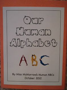 human alphabet classroom book