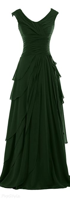 Sunvary Ruffled Chiffon A-Line Evening Gown for a bridesmaid dress. Hmmm