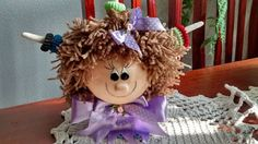 Lubiartes: boneca porta fru fru em biscuit