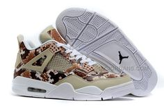 new product 8c013 80322 Jordan 4 Pinnacle Snakeskin Brown White