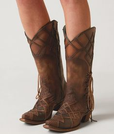 Corral Pieced Cowboy Boot - Women's Shoes in LD Honey | Buckle