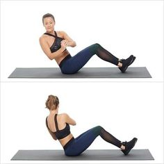 Russian twists 1 Workout to Bring Your A-Game: No-Equipment Arms and Abs Circuit Russian Twist Effective Ab Workouts, Lower Ab Workouts, At Home Workouts, Fitness Workouts, Monthly Workouts, Toned Tummy, Toned Abs, Quick Ab Workout, Fitness Home