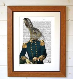 Lieutenant Hare Dictionary Print. If we could do a full naval thing with these it would be amazing