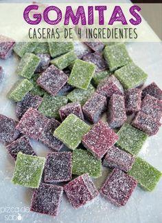 Cómo hacer gomitas caseras de 4 ingredientes  www.pizcadesabor.com