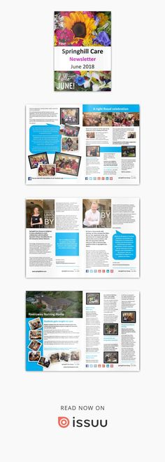 Springhill Care Group Newsletter June 2018  Our June Newsletter is available to view NOW - Go on, make a brew, take a seat and have a sneaky peak - ENJOY