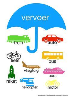 Spelend leren met deze leuke platen!   spelend leren en ontdekken   Leren-woordjes-plaatjes-educatief? Learn Dutch, Kids Planner, Dutch Language, Learning Numbers, Study Skills, Preschool Learning, Diy For Kids, Kids Playing, Vocabulary