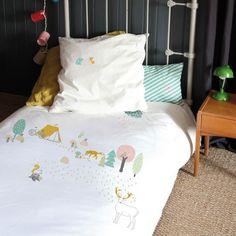 Parure de lit 100 x 135 cm Mimi'lou Forêt - nouvelle collection été