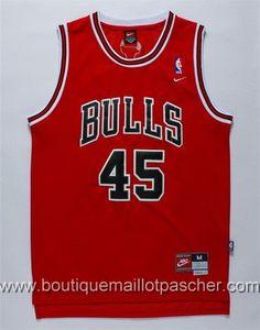 maillot nba pas cher Chicago Bulls Jordan #45 Rouge nouveaux tissu 22,99€