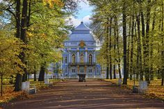 Golden Autumn in St Petersburg | The Hermitage pavilion in Catherine Park