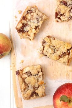 Apple Pie Crumb Bars with pecans. It's like eating an apple pie but without the fuss of pie crust