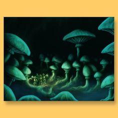 beneath the earth scifi fantasy art postcard by frank_glerum_art