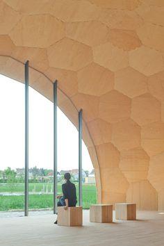 Landesgartenschau Exhibition Hall at University of Stuttgart, digitally fabricated....structure assembled in 3 weeks!!!