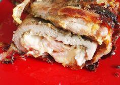 Őzgerincformában sült sajtkrémes-baconös karaj Recept képpel - Mindmegette.hu - Receptek Bacon, Sandwiches, Lunch, Recipes, Food, Eat Lunch, Recipies, Essen, Meals