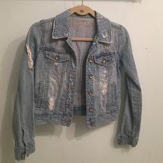 Distressed Blue Jean Jacket