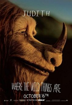 JUDITH - Where the Wild Things Are Movie Poster