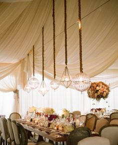 Stunning Geometric Lights -- wedding design by Mindy Weiss, photo by @Elizabeth Messina