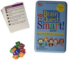 NEW University Games Brain Quest SMART Educational Card Game in Travel Tin  #UniversityGames