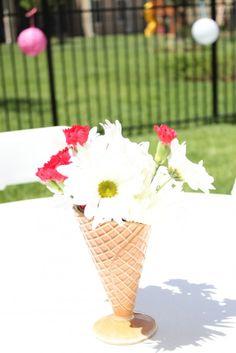 Ice Cream Decor. Waffle Cone Vase... @Trish Christman