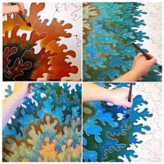 Flag, Painting, Art, Silk, Silk Painting, Art Background, Painting Art, Kunst, Paintings