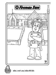 busy firefighter coloring pages | Fireman Sam coloring pages | keep the kids busy ...